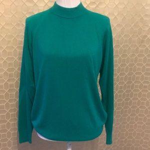 Designers Originals Soft Mock Neck Sweater Green